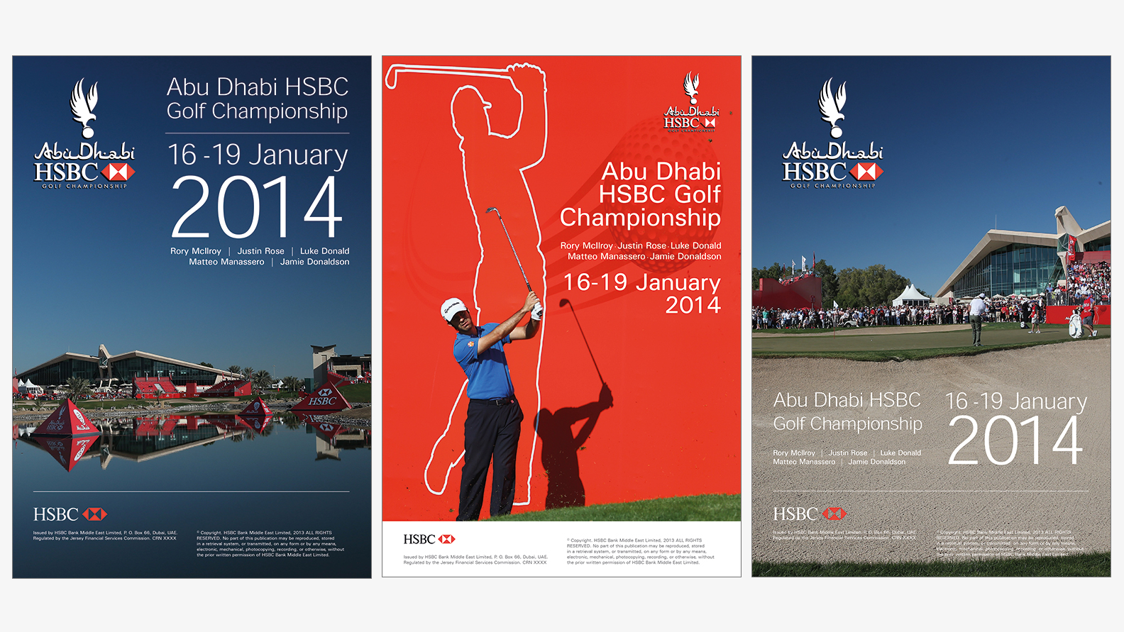 Abu Dhabi Golf Championships Wall And Stadium Graphics Sangers